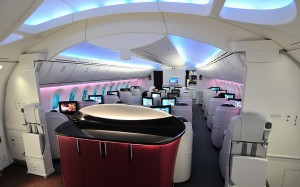 Qatar Airways' Dreamliner - business class,