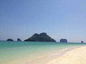 Idyllisk øy ved Krabi